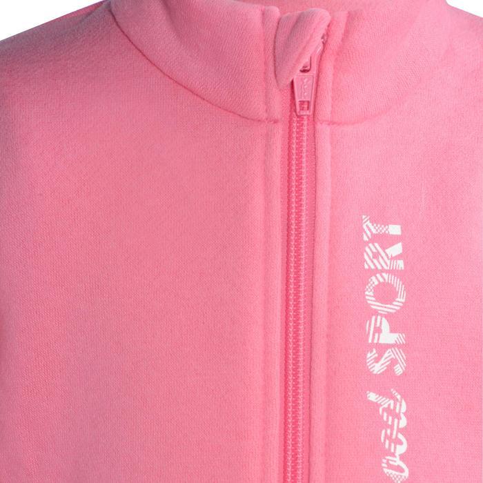 Survêtement 120 Gym Baby zippé imprimé rose Warm'y Zip