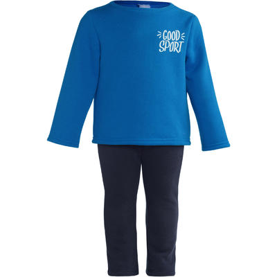 100 Warm'y Baby Gym Tracksuit - Blue