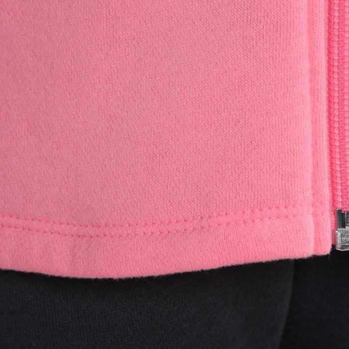 Chándal 120 gimnasia infantil con cremallera y estampado rosa Warm'y Zip