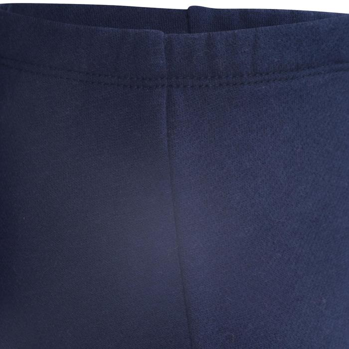 Jogginghose 100 warm Babyturnen marineblau