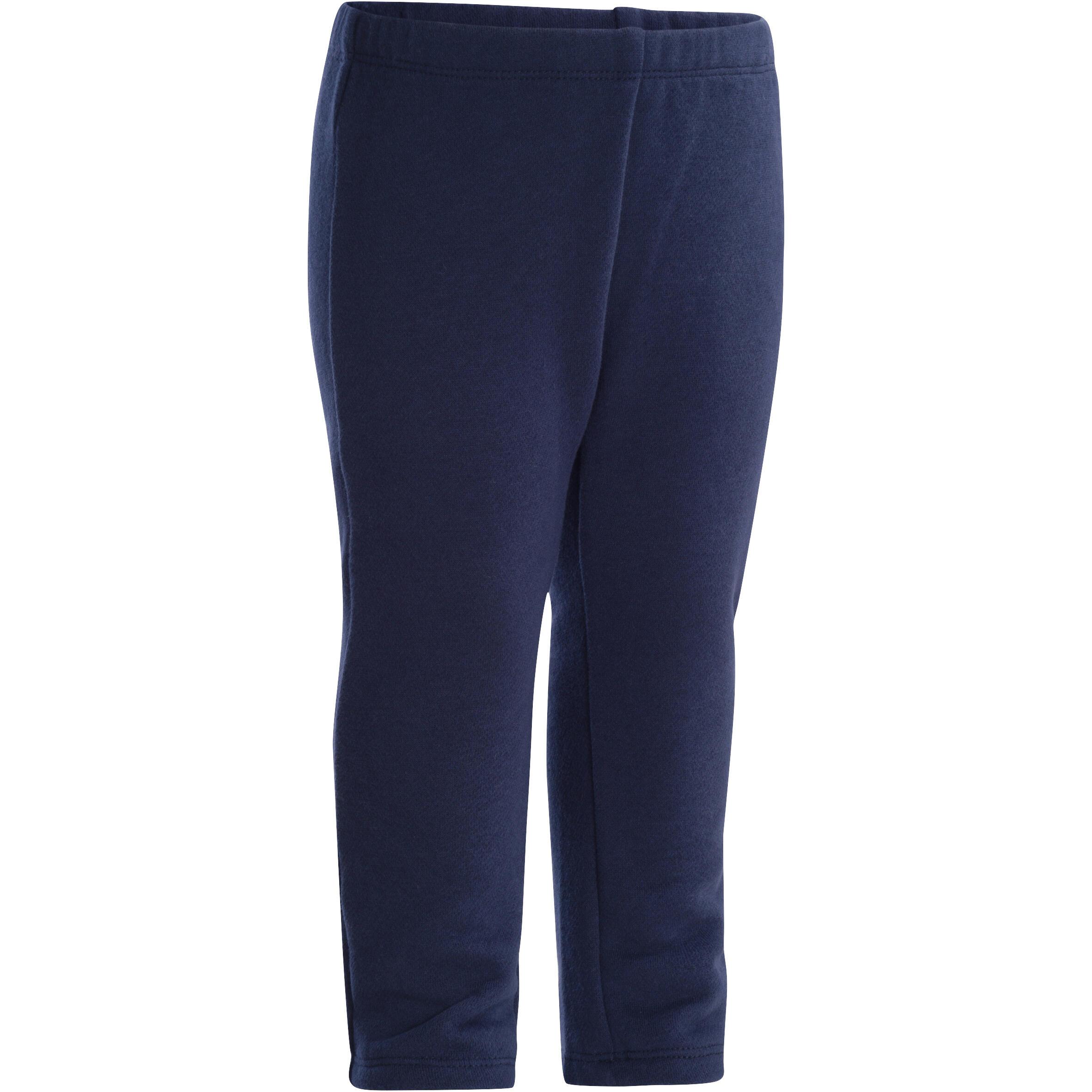 Pantalón deportivo cálido gimnasia infantil azul marino Warm'y