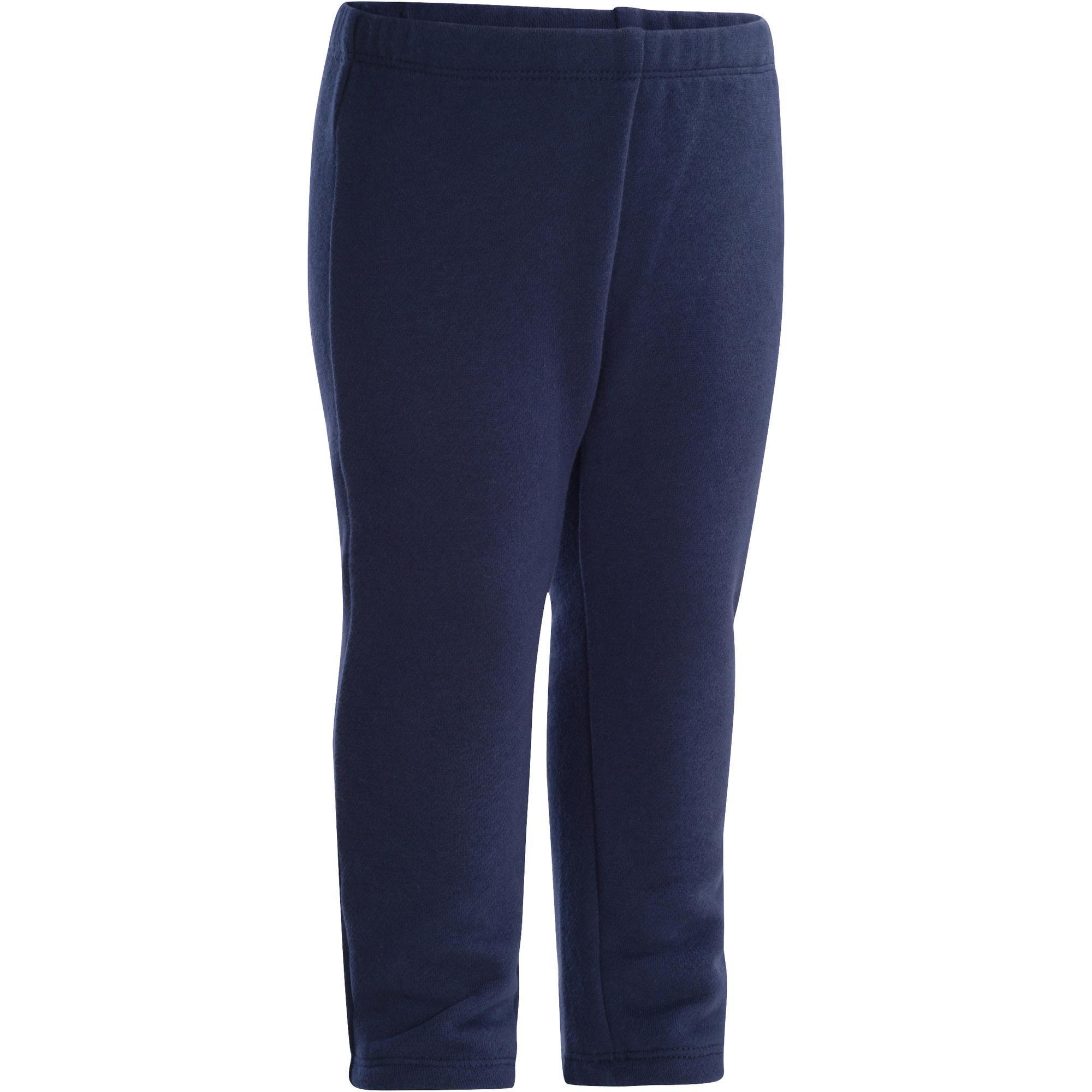 Pantalon 100 chaud baby gym bleu marine domyos