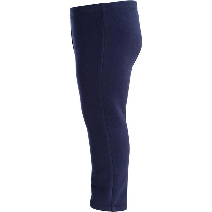 Warme broek 100 voor kleutergym marineblauw