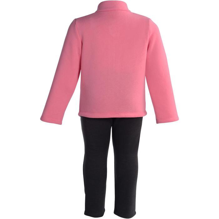 Trainingsanzug 120 Gym Warm'y Zip Baby Print rosa