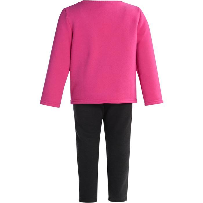 Gym joggingpak 100 Warm'y met opdruk voor peuters roze