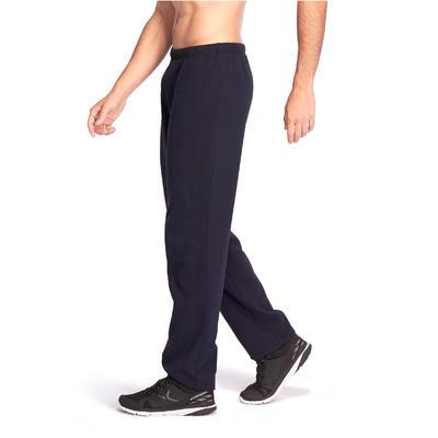 מכנסיים בגזרה רגילה לחדר כושר ולשיעור פילאטיס – כחול-כהה