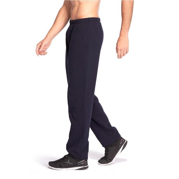 Pantalón 900 regular Pilates y Gimnasia suave hombre azul marino