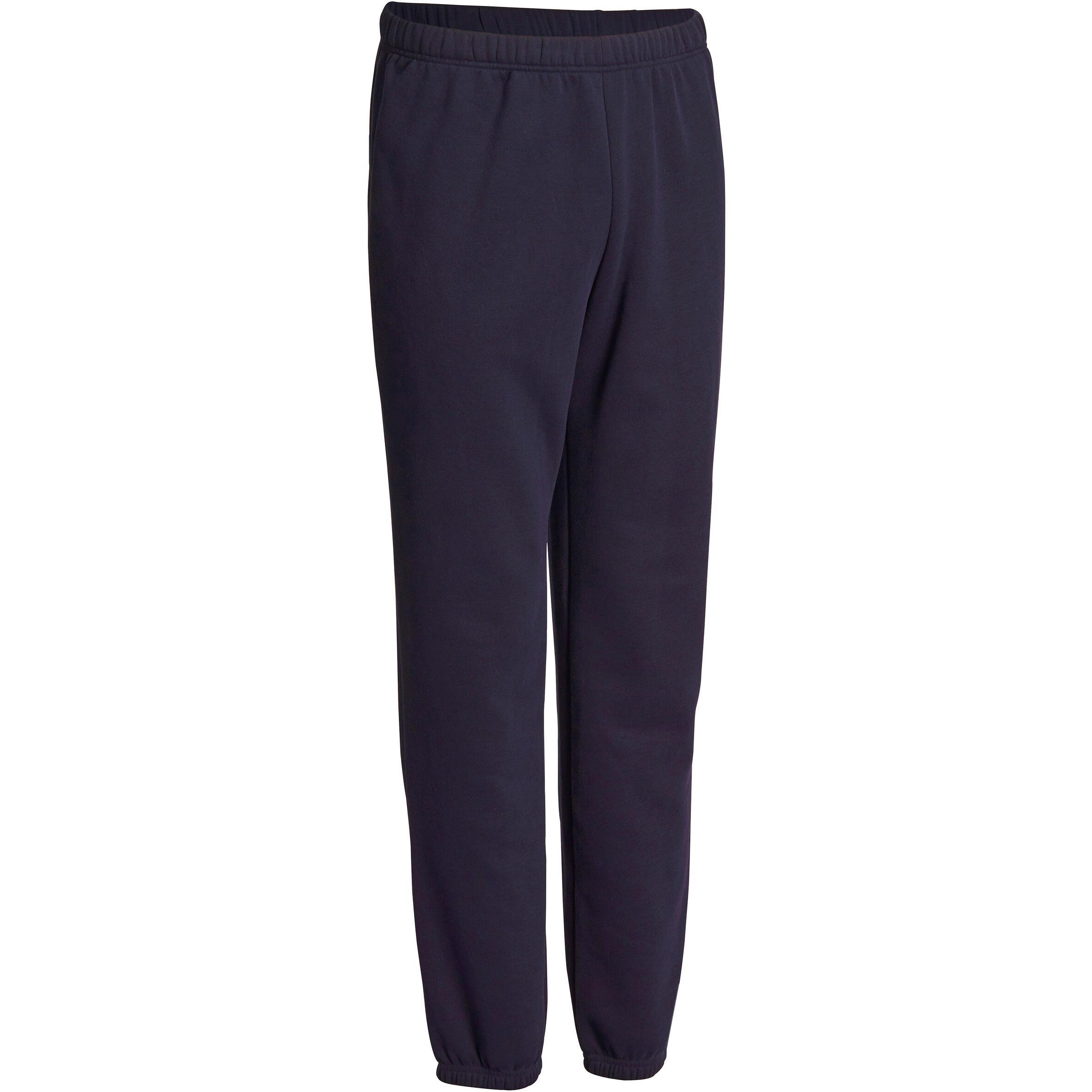 Pantalon 900 régulier gymnastique d'étirement homme bleu marine