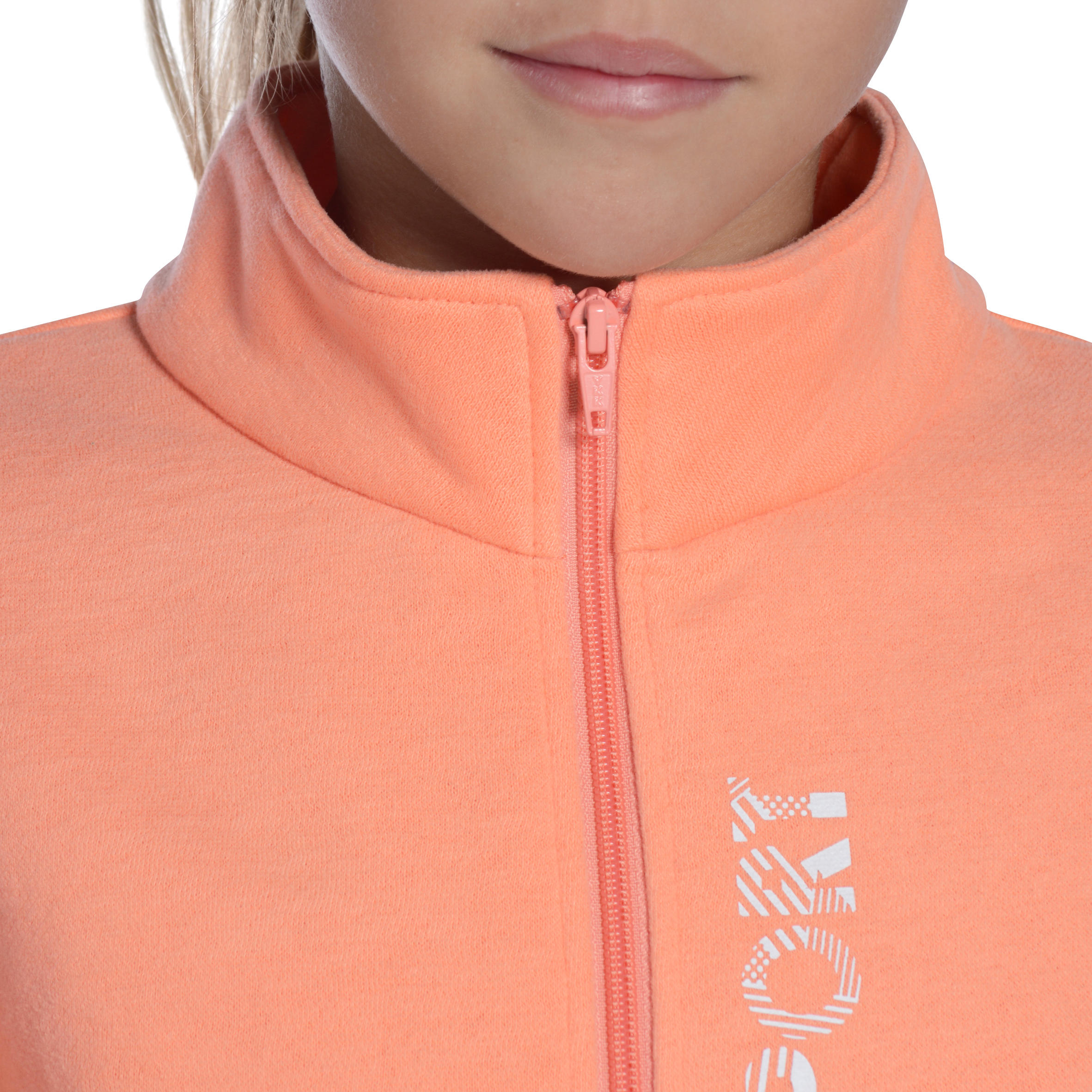 Warm'y Girls' Warm Zip-Up Gym Tracksuit - Pink Print
