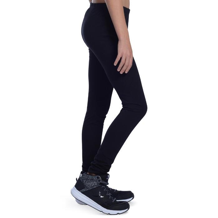 Legging voor gym meisjes 100 zwart