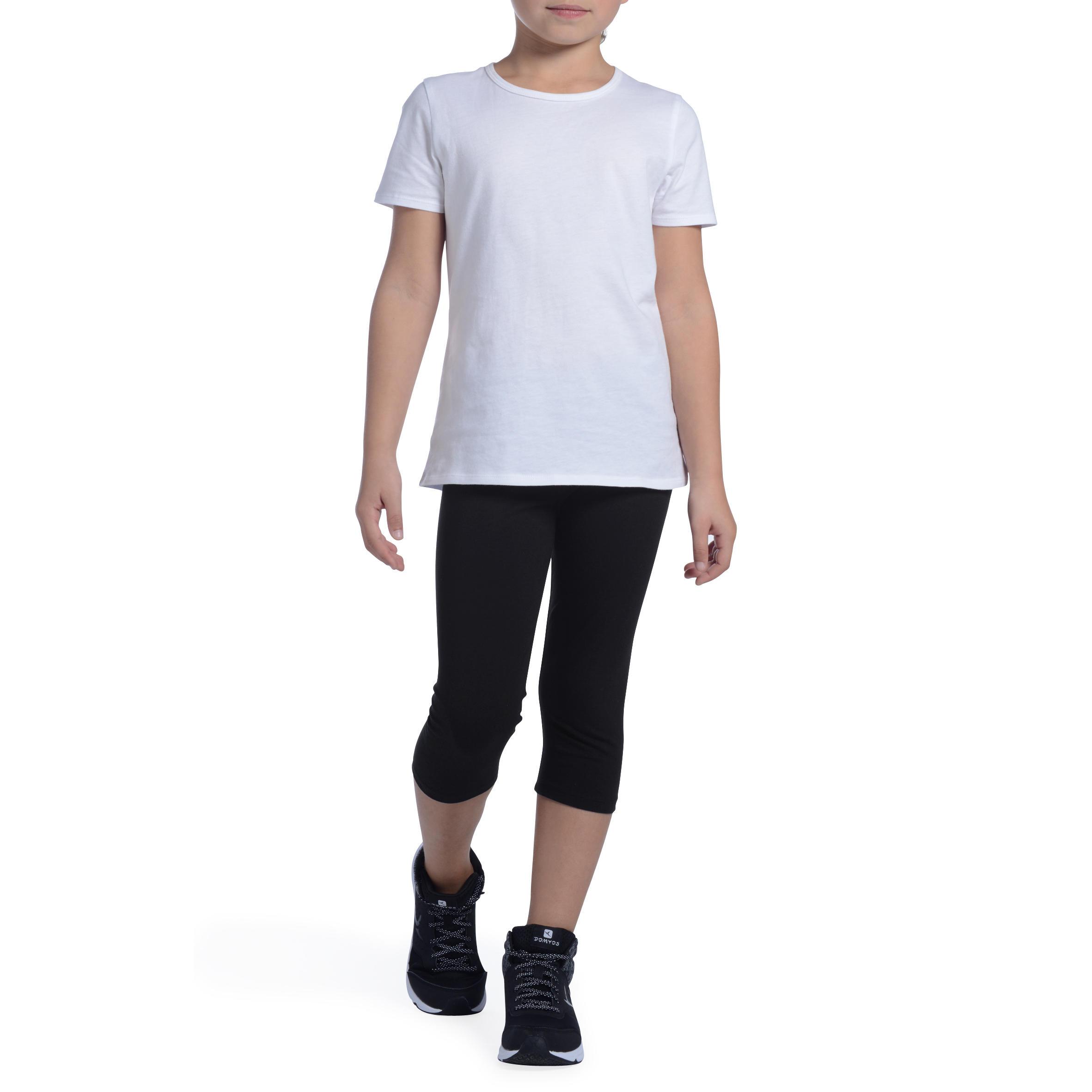Girls' Gym Cropped Bottoms - Black