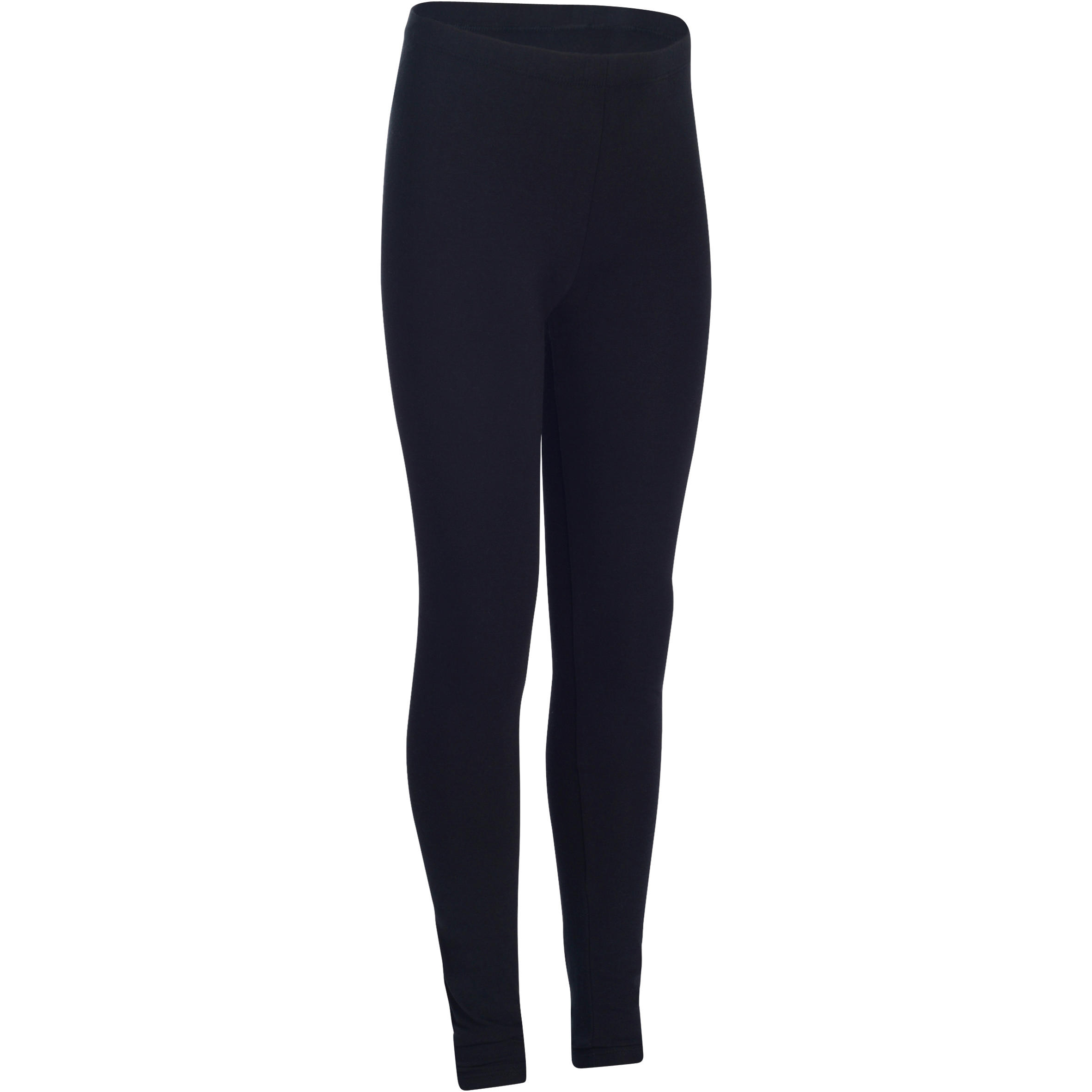 Girls' Gym Leggings - Hitam