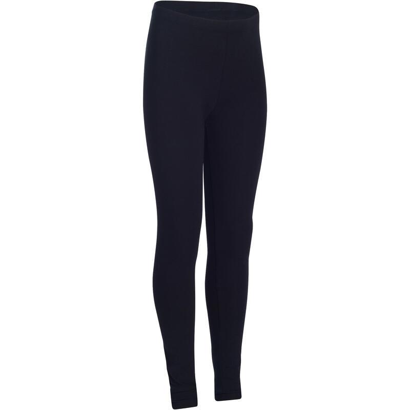 100 Girls' Exercise Leggings - Black