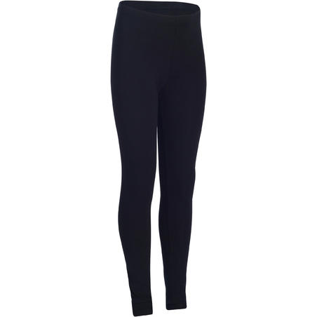 Legging gym enfant 100 noir – Fille