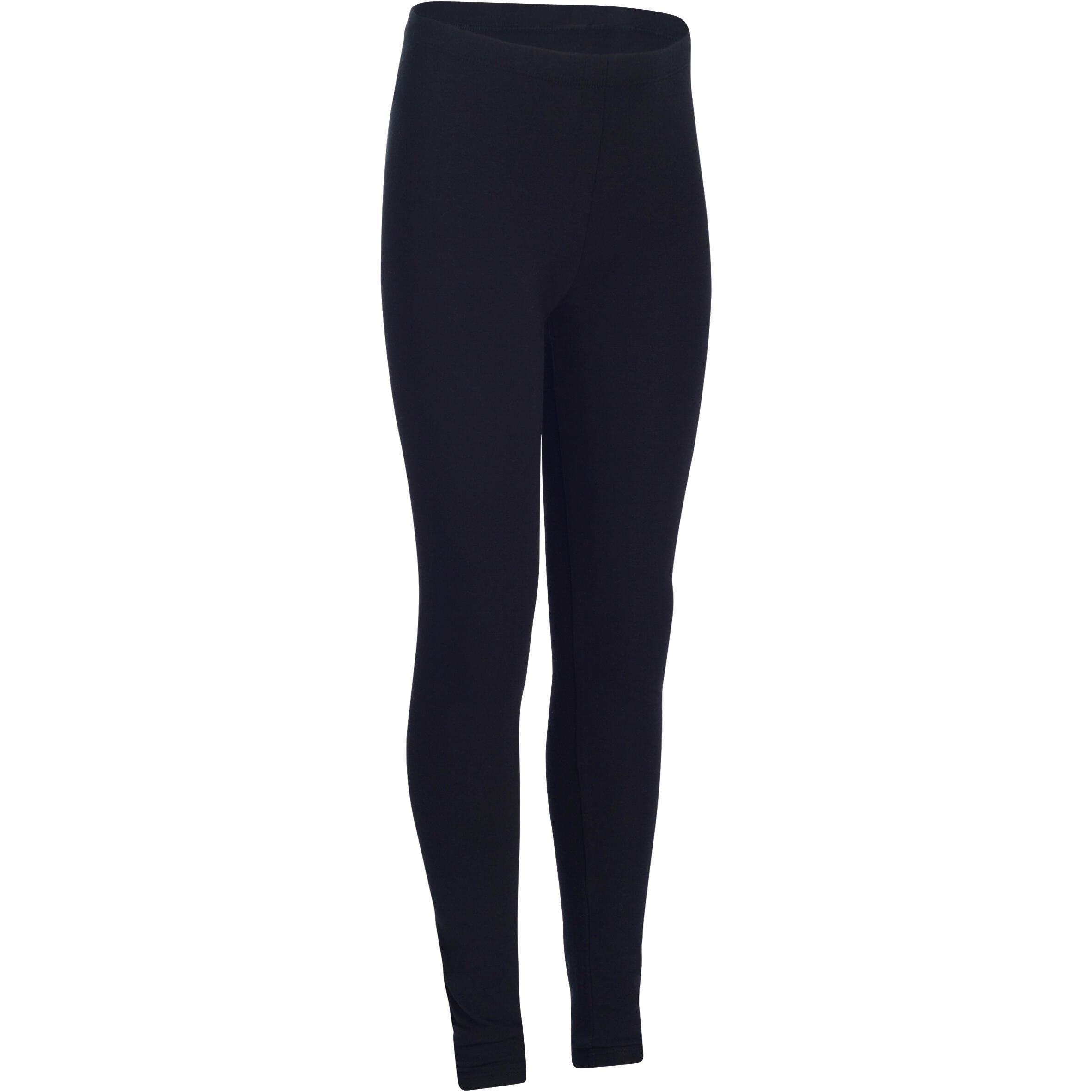 Girls' Gym Leggings 100 - Black