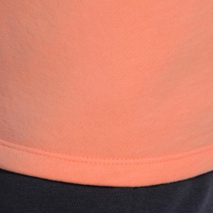 Trainingspak 120 gym meisjes print oranje Warm'Y rits