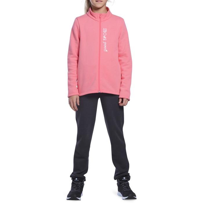 Survêtement chaud zippé imprimé Gym fille Warm'y Zip - 1090943