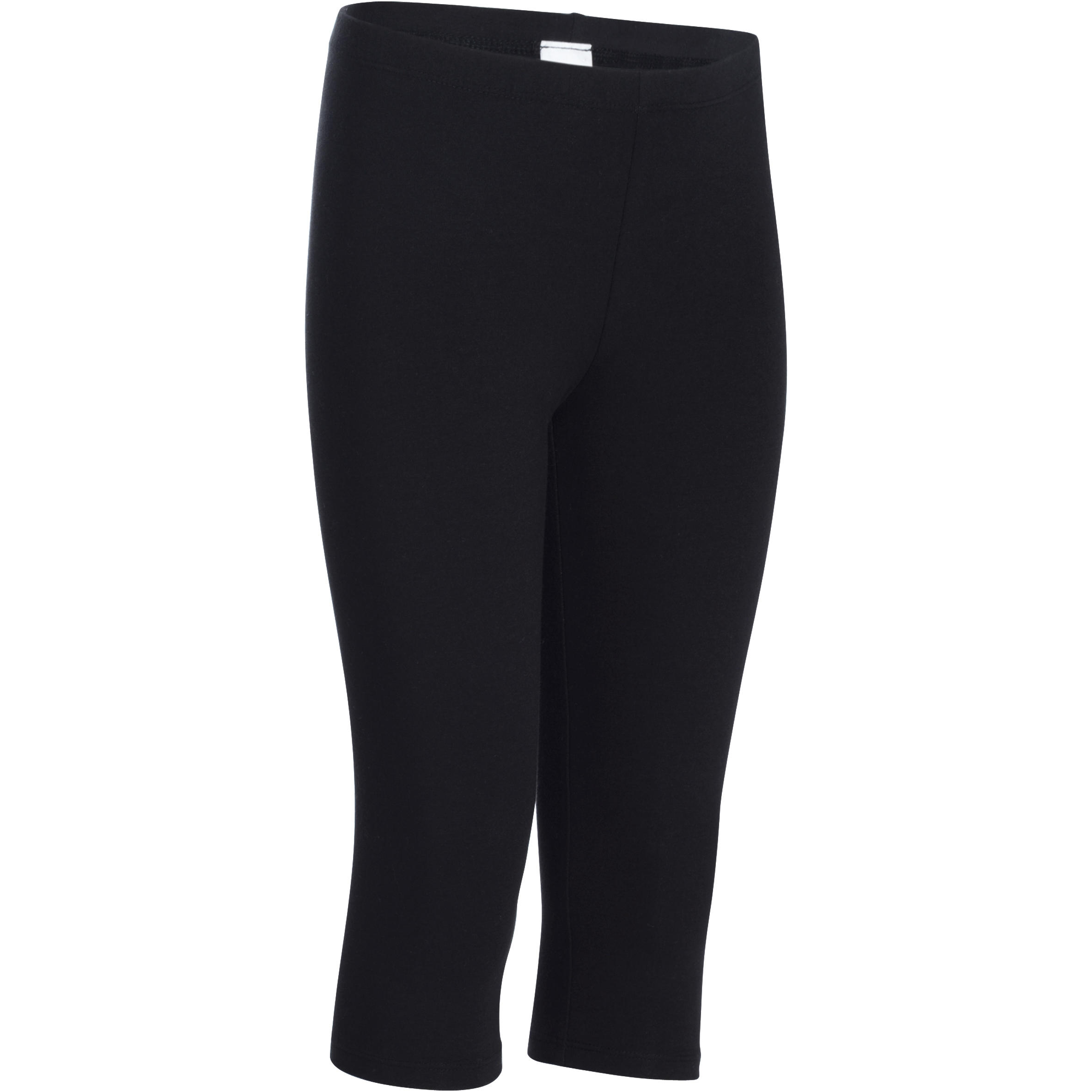 Girls' Gym Cropped Bottoms - Black
