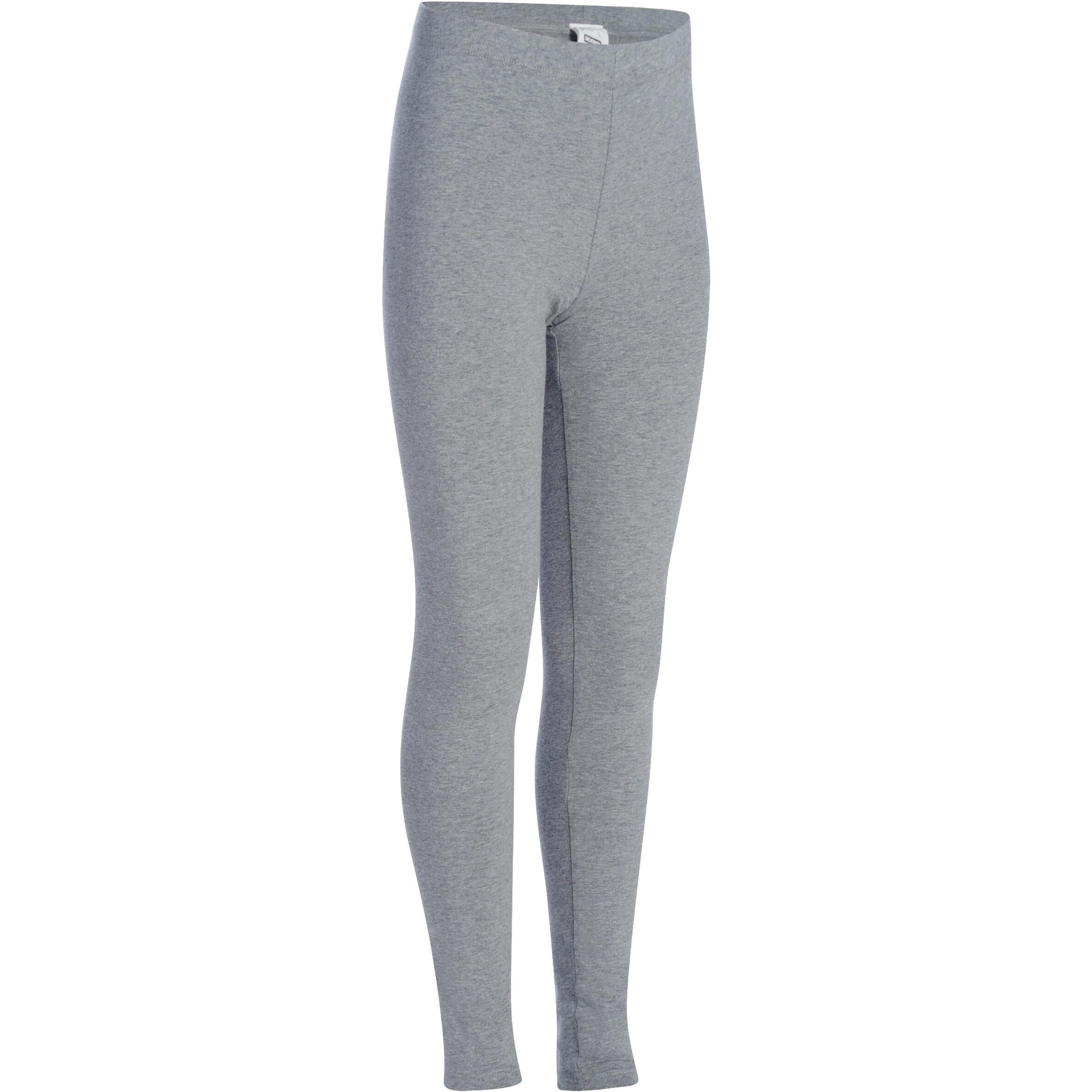Leggings de gimnasia para niña gris
