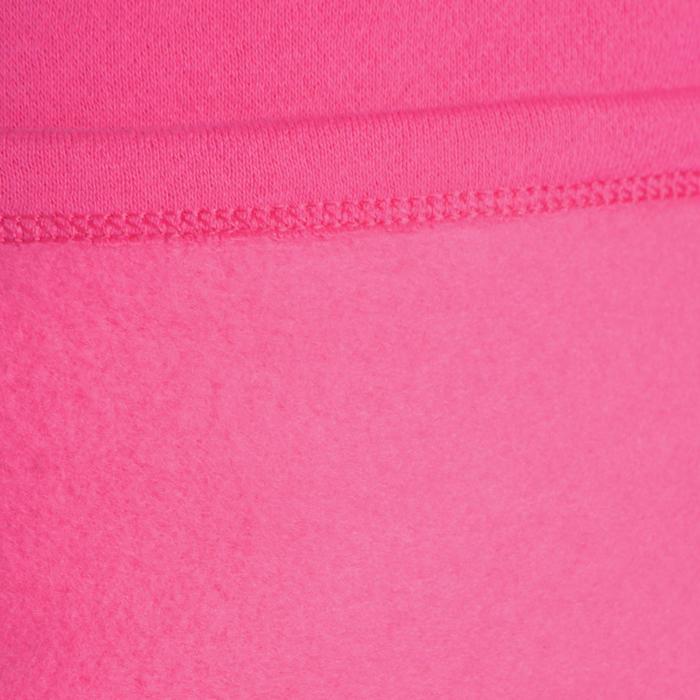 Joggingpak 100 voor gym meisjes roze print Warm'y