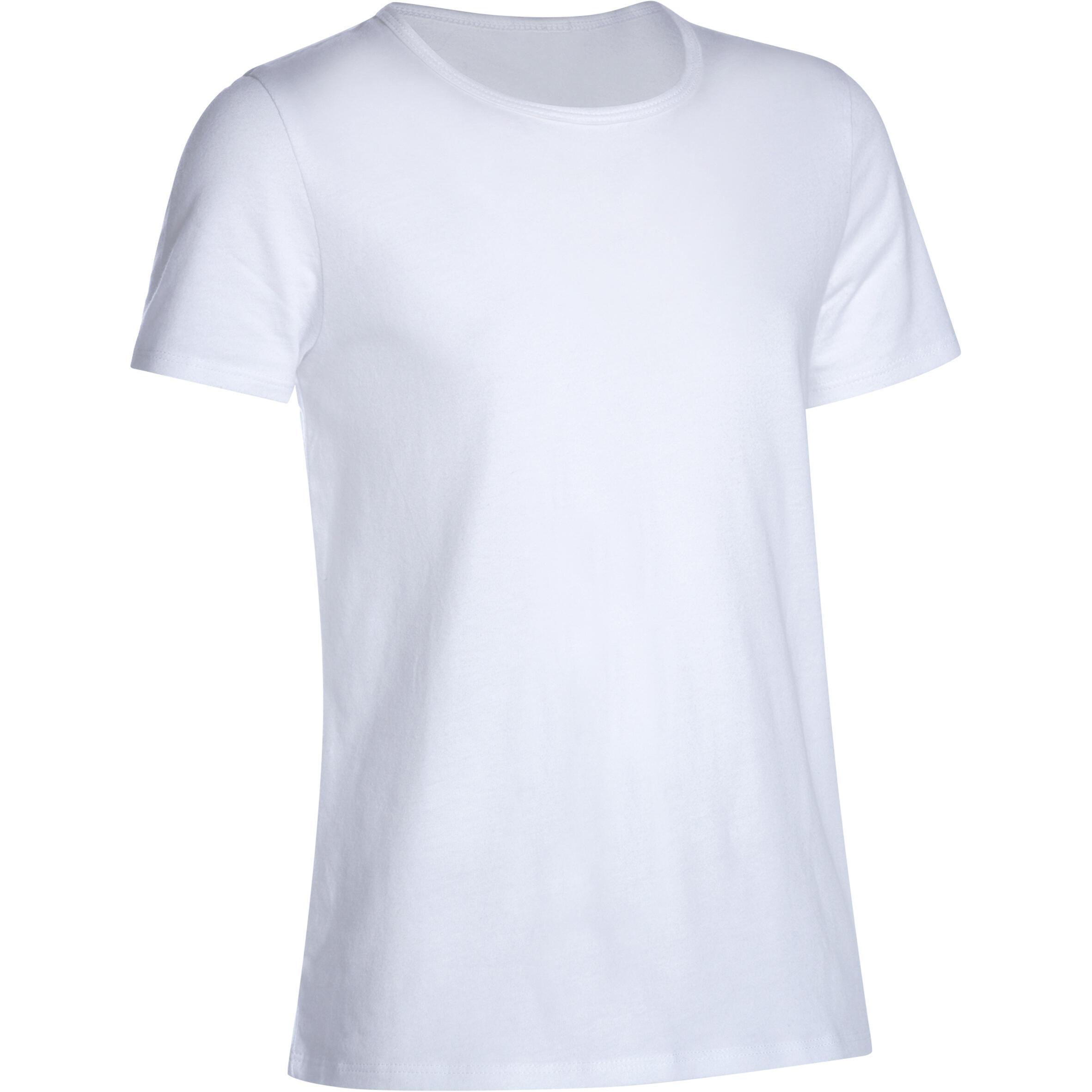 Girls' Short-Sleeved Gym T-Shirt - White