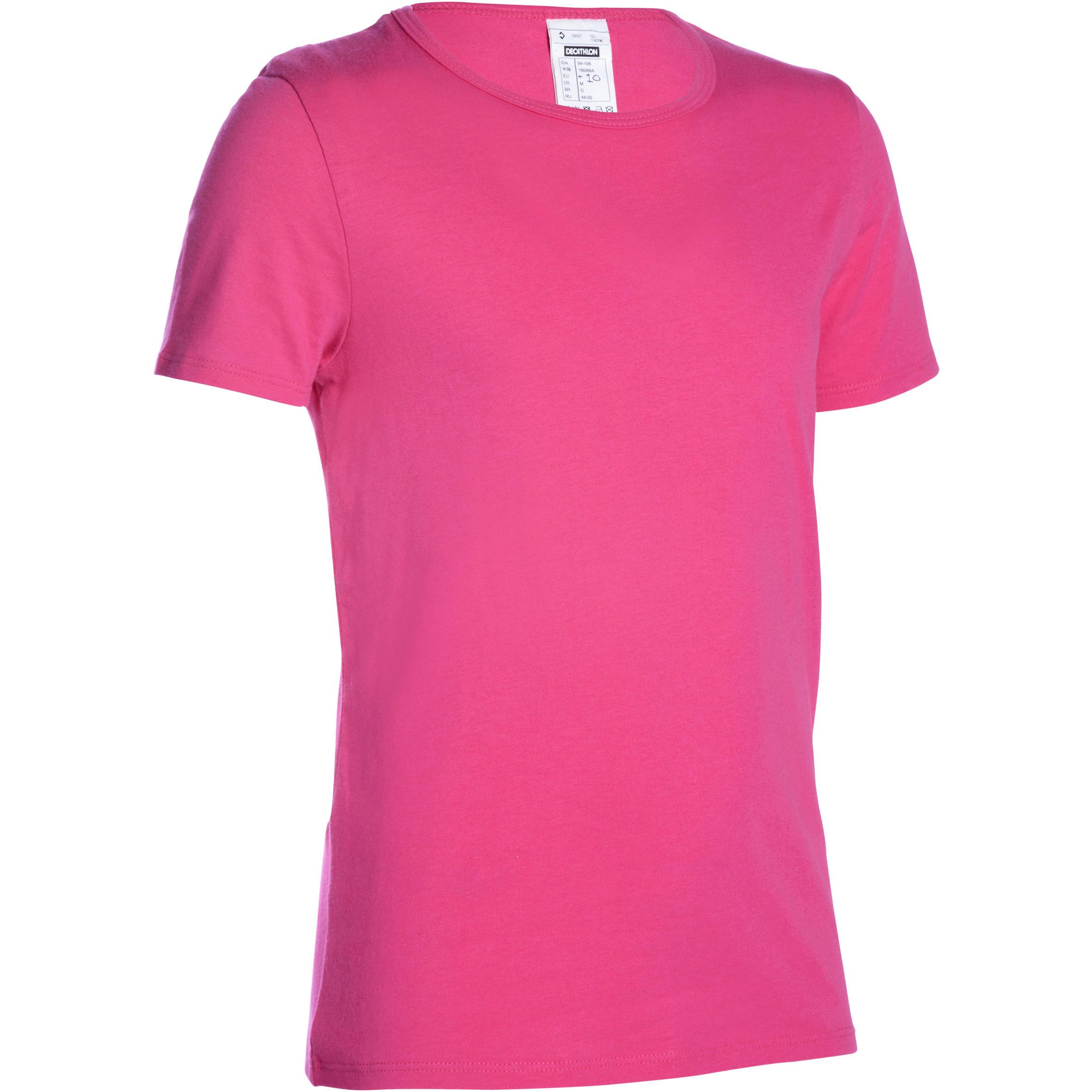 Camiseta de manga corta gimnasia niña rosa