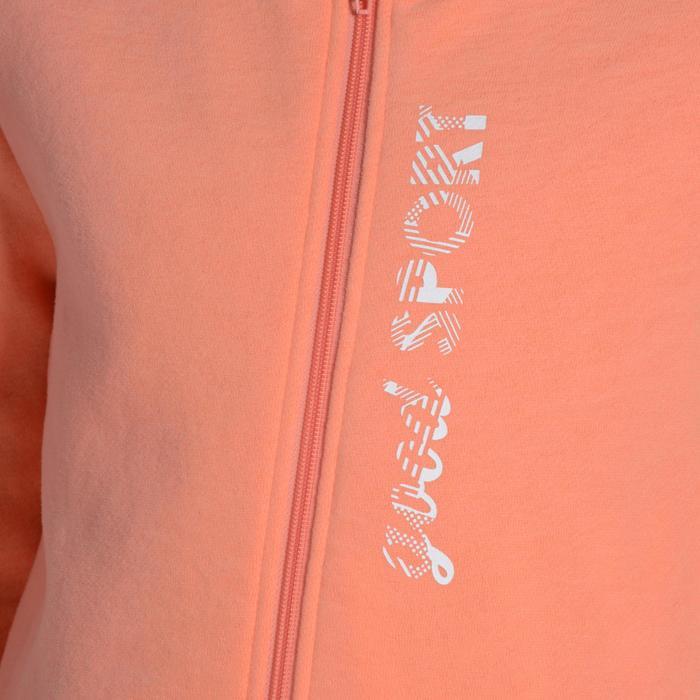 Survêtement chaud zippé imprimé Gym fille Warm'y Zip - 1091036