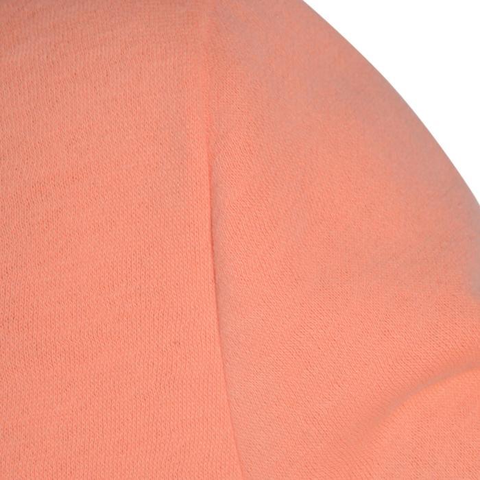 Chándal 120 gimnasia niña estampado naranja Warm'y Zip