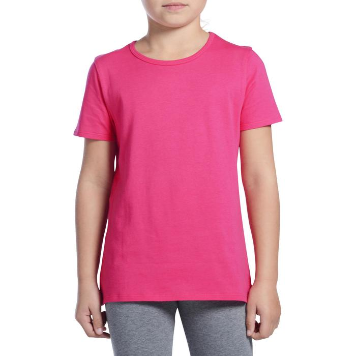T-Shirt manches courtes 100 Gym fille - 1091045