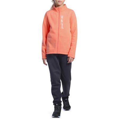 Survêtement 120 Gym Fille imprimé orange Warm'y Zip