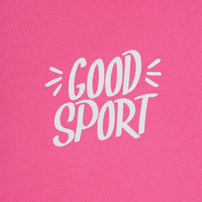 100 Warm'y Girls' Gym Tracksuit - Pink Print