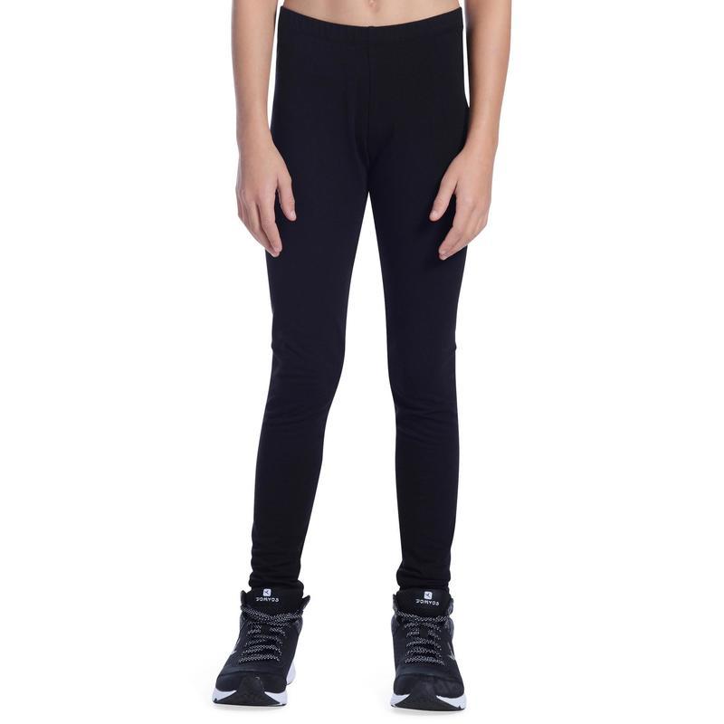 e780bb1a1bcd3f 100 Girls' Gym Leggings - Black | Domyos by Decathlon