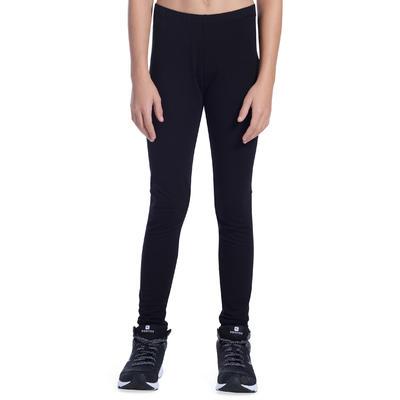 100 Girls' Gym Leggings - Black