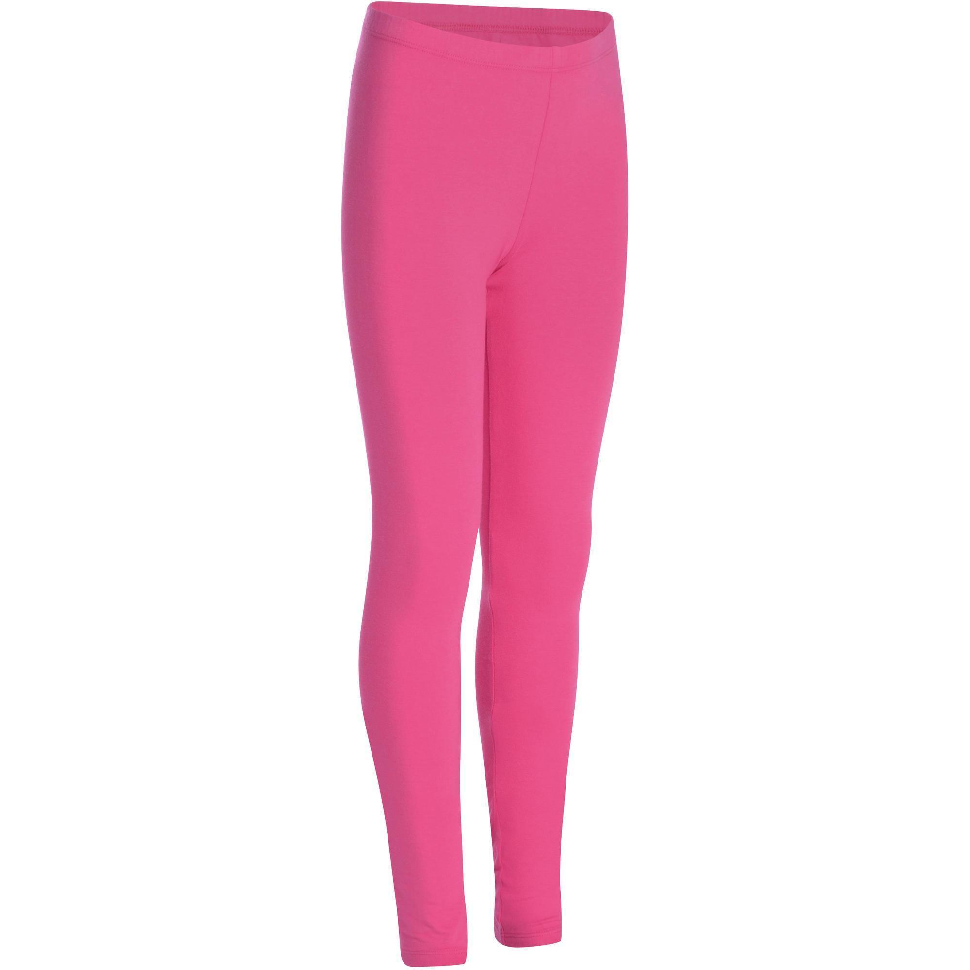 f85c246e6a Girls' Gym Leggings - Pink | Domyos by Decathlon