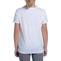 Camiseta de manga corta 100 niña GIMNASIA JÚNIOR blanco