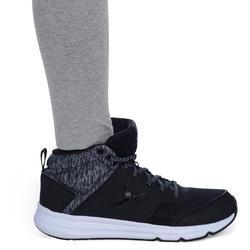 100 Girls' Gym Leggings - Light Grey