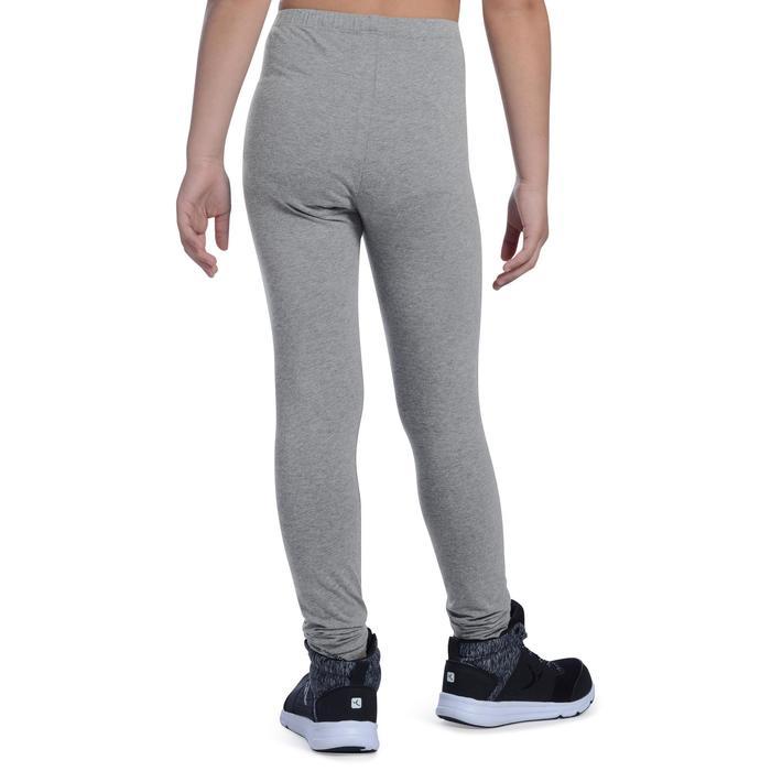 Leggings 100 gimnasia niña gris claro