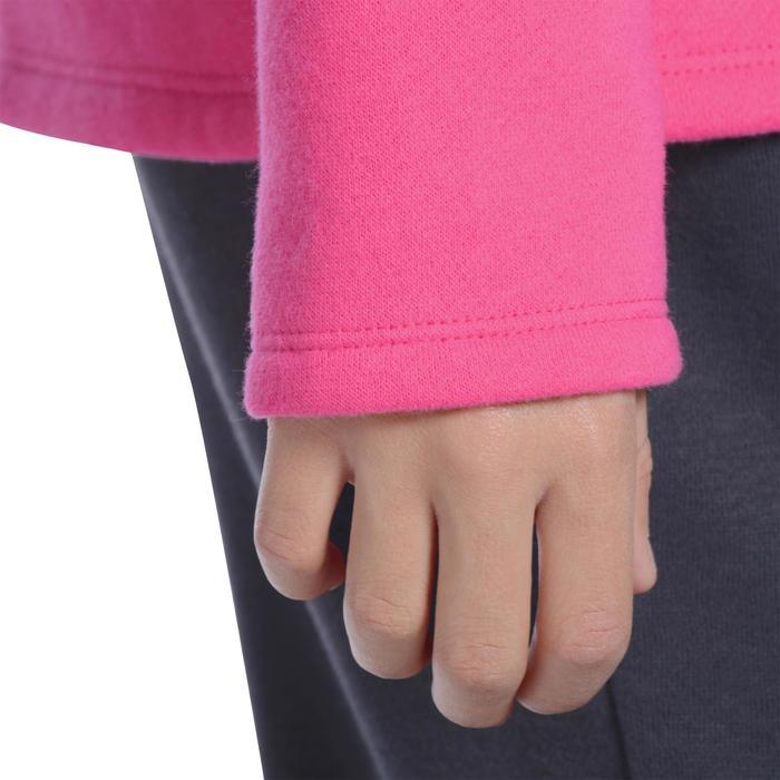 Jogginganzug 100 Warm'Y Gym Kinder rosa mit Print