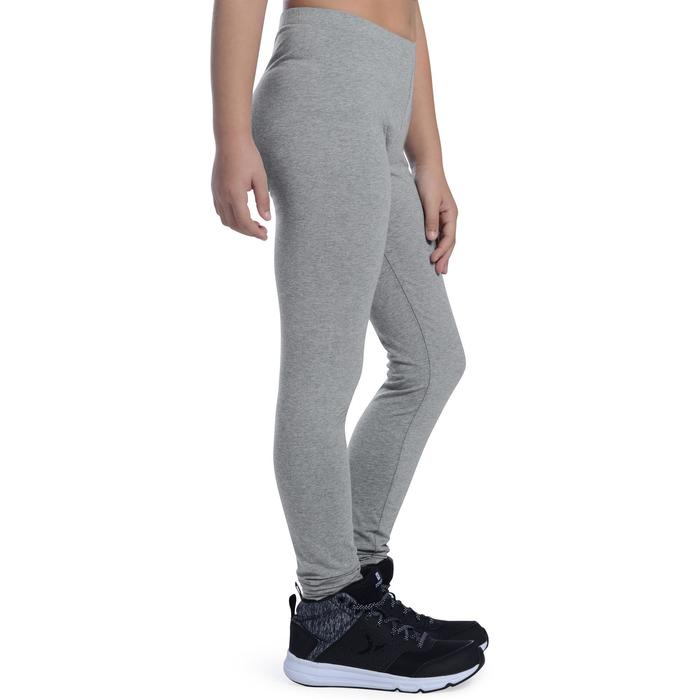 Leggings 100 Gym Kinder hellgrau
