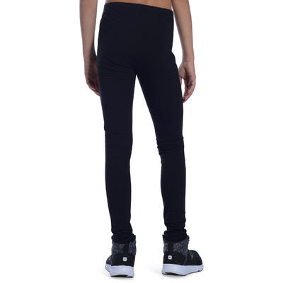 100 Girls' Gym Leggings - Black