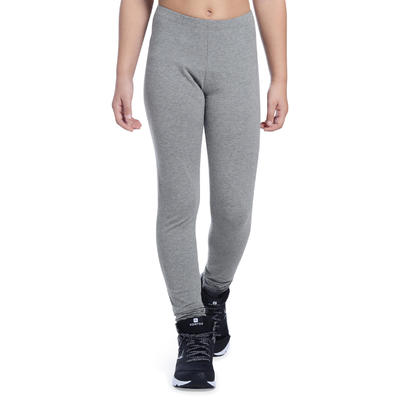Legging 100 Gym Fille gris clair