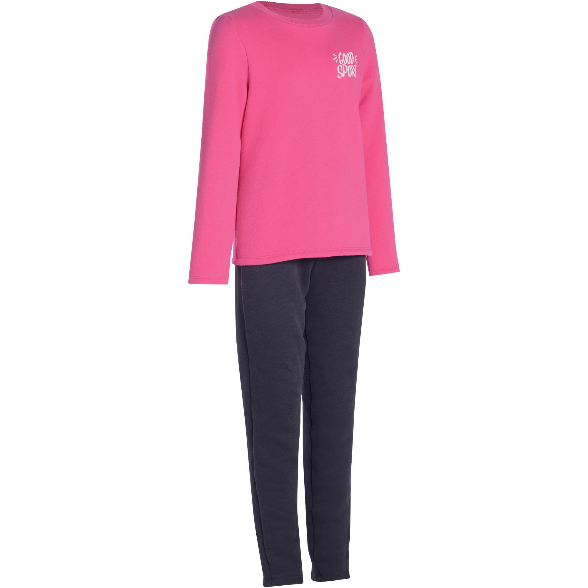 c6d61b487d56a Chándal 100 gimnasia niña rosa estampado Warm y