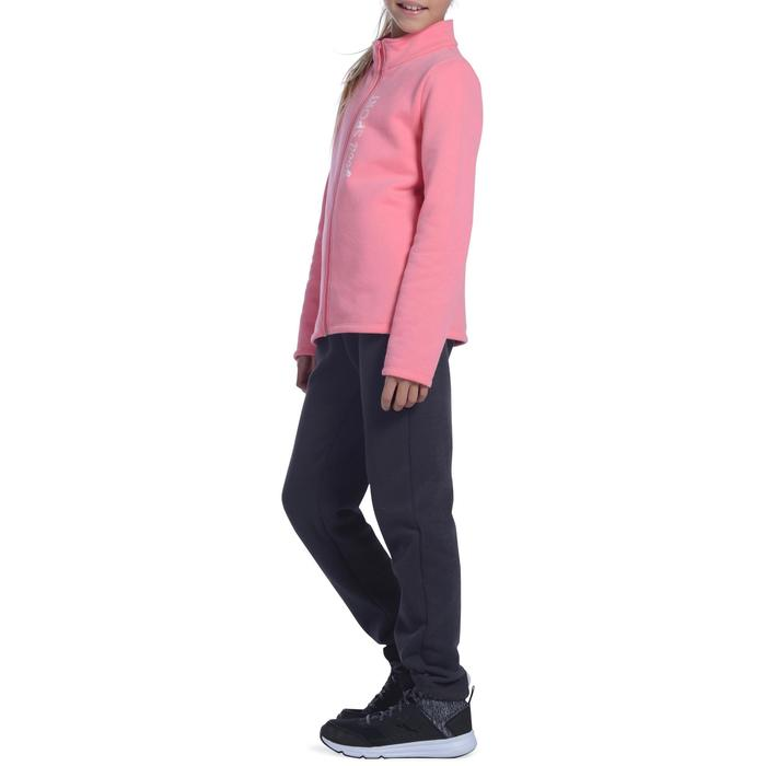 Survêtement chaud zippé imprimé Gym fille Warm'y Zip - 1091168