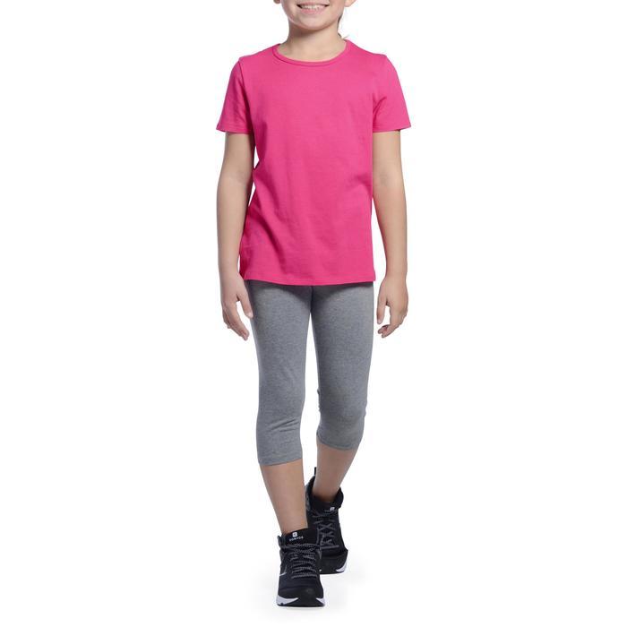 Gym T-shirt met korte mouwen 100 voor meisjes roze