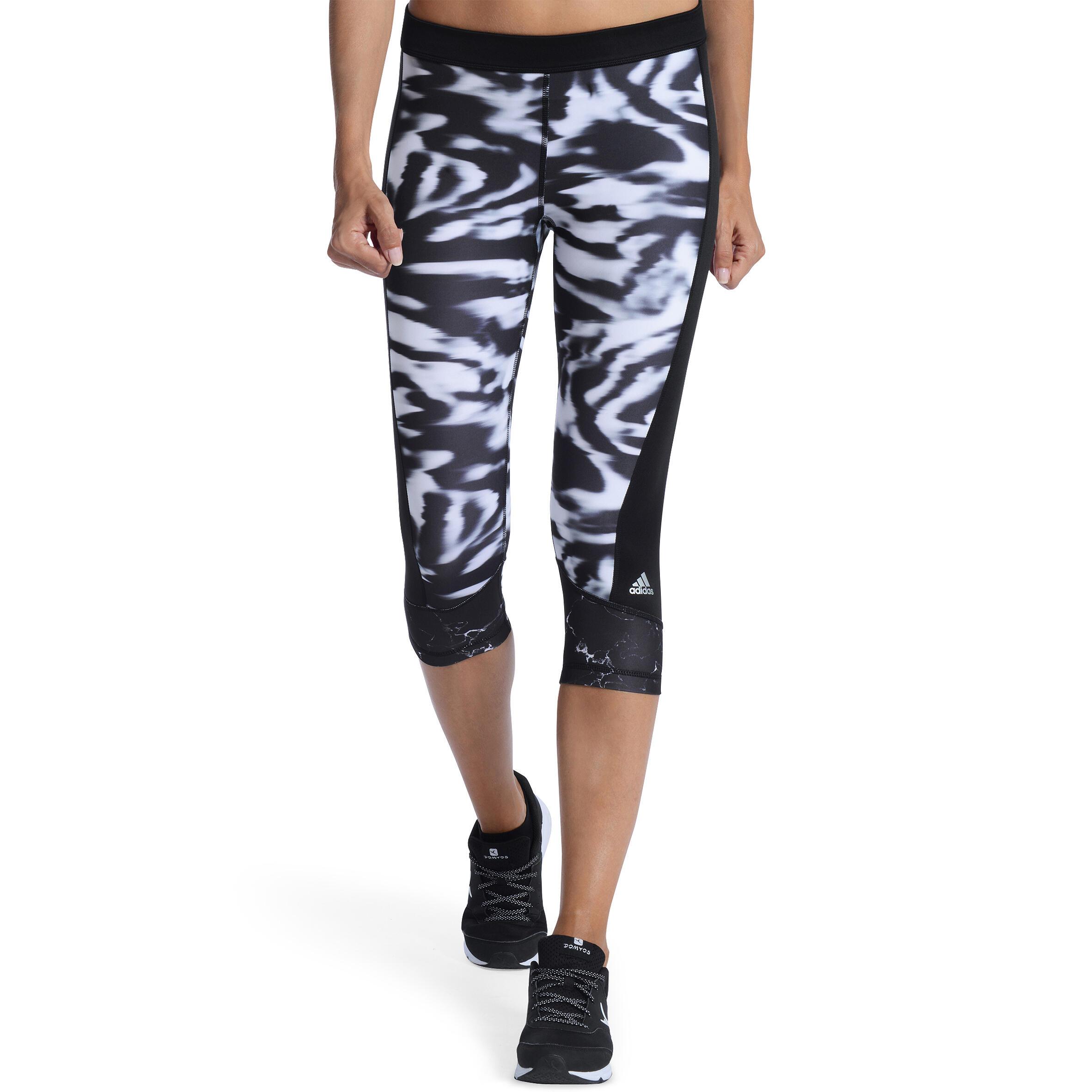 adidas Techfit Capri, Zwart, M, Female, Training