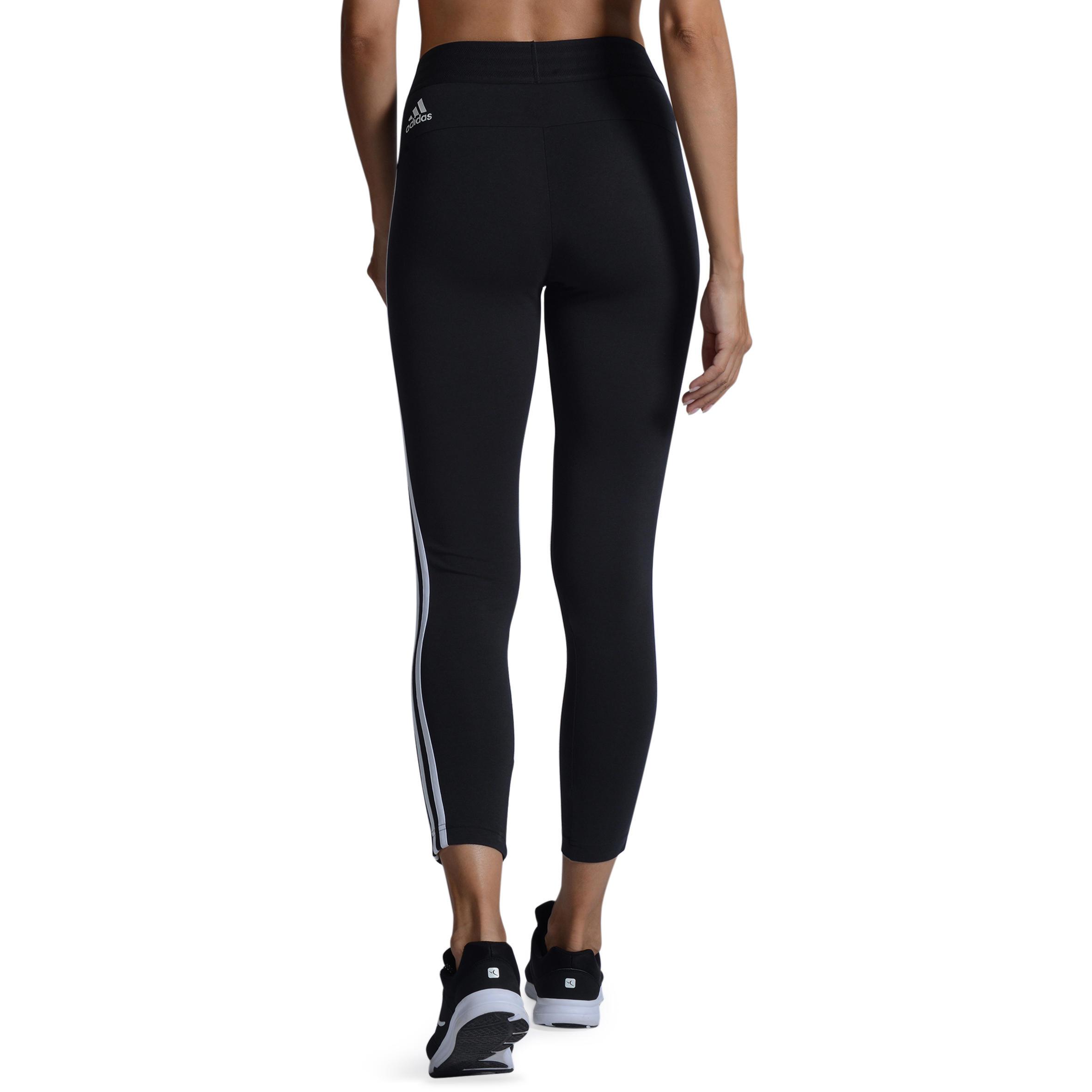 Fitnesslegging voor dames zwart-wit