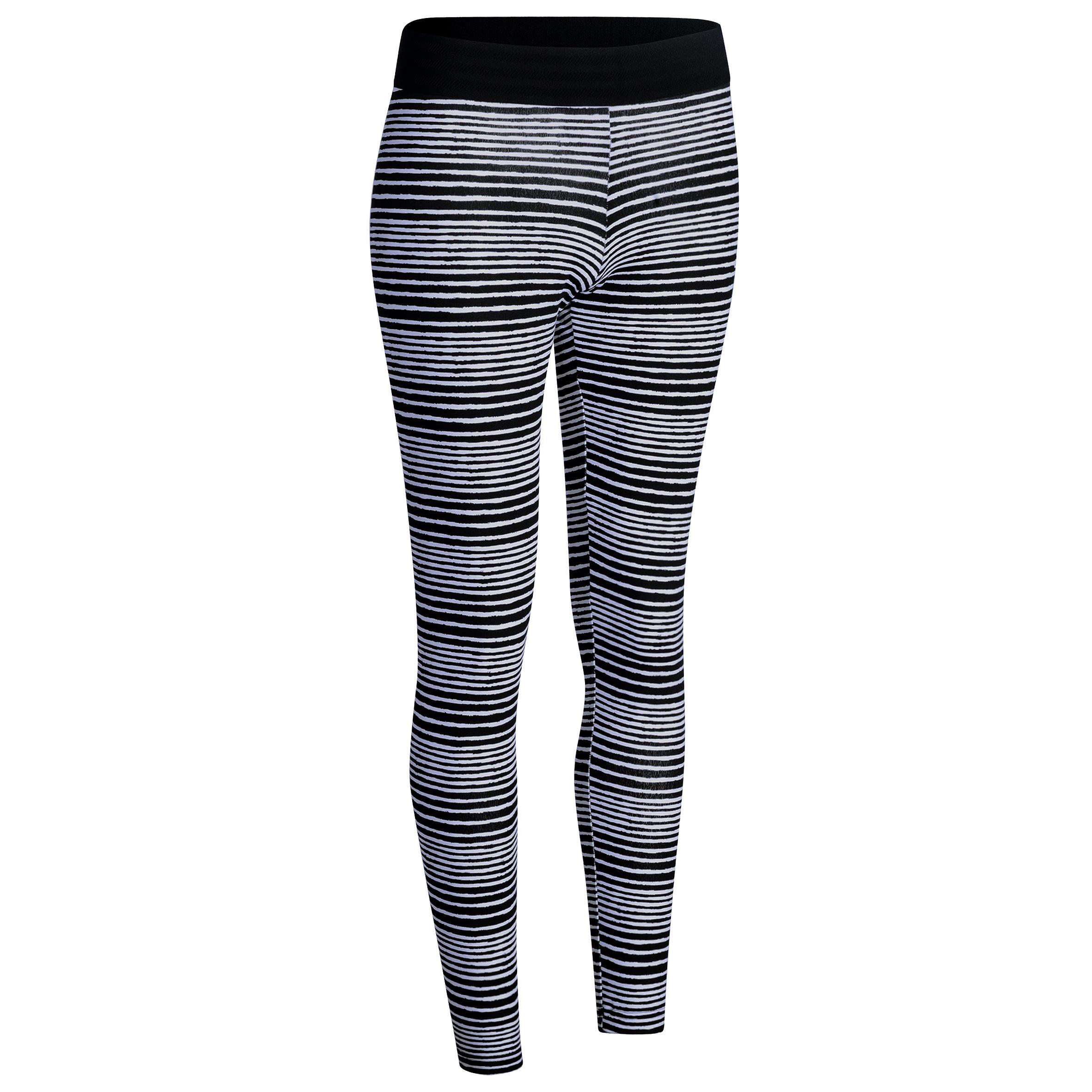 Adidas Fitnesslegging dames zwart/wit/grijs