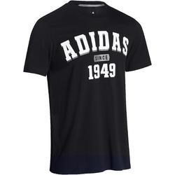 Fitness T-shirt voor heren zwart