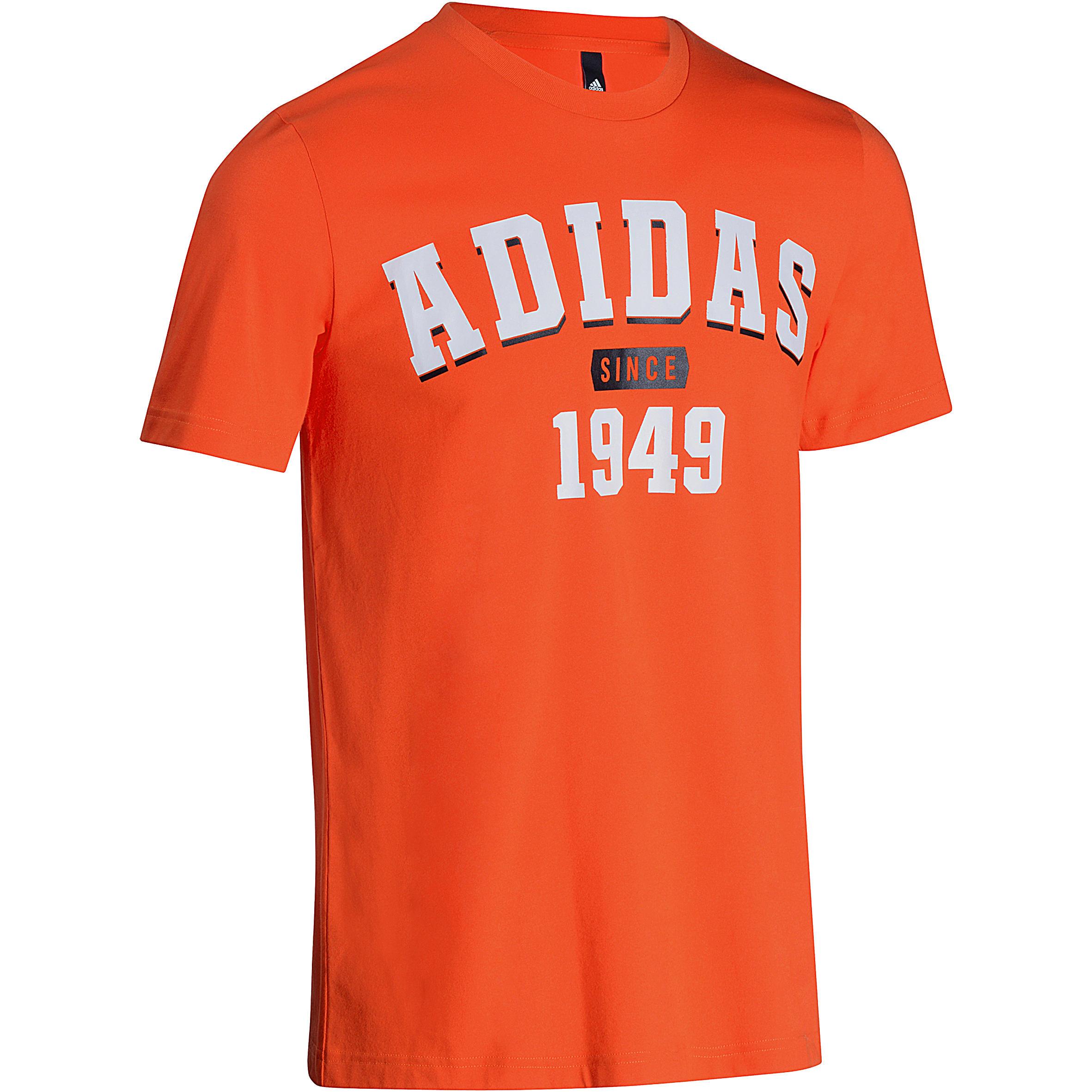 Fitness T-shirt voor heren oranje