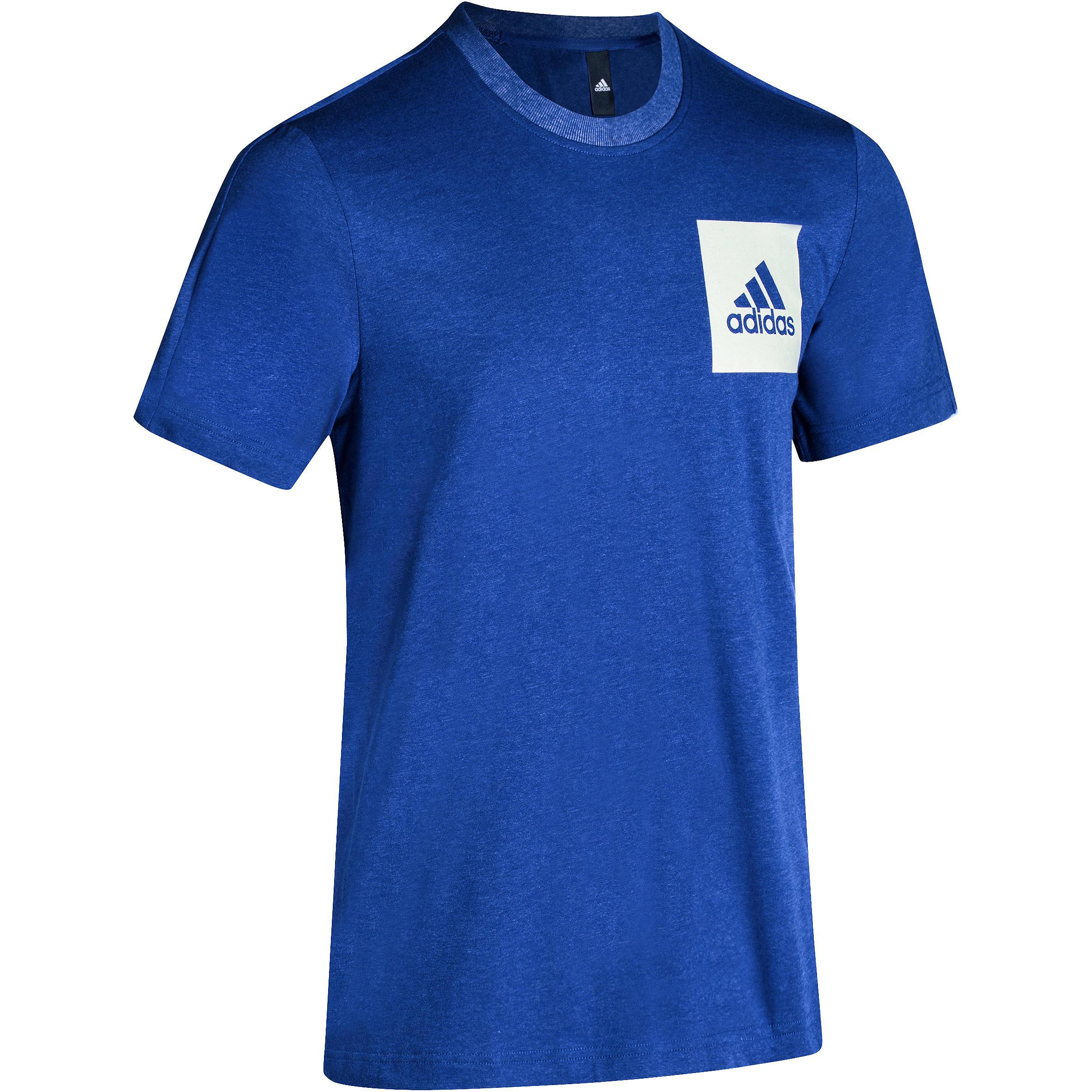 Fitness T-shirt heren blauw